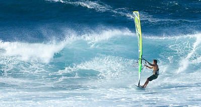 Mary McLean - Windsurfing in Maui