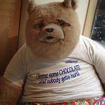 Donna Clarke - Bear in cafe