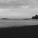 Donna Clarke - Isolation - black sand beach on Mt. Edgecombe Island Pano