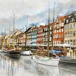 Vicki Moritz - Copenhagen Nyhavn boats