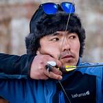 Jill Shaw - Archery practice