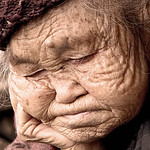 Helen Warnod - Old Leishan woman