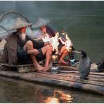 Jill Shaw - Cormorant fishermen lighting their lanterns