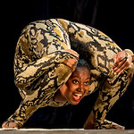 Jill Shaw - Contortionist in a python suit