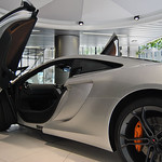 Donna Clarke - McLaren  on the showroom floor