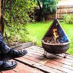 Ken Barnett - Relaxing by the fire pit