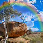 George Skarbek - Rainbow over Devils Marbles