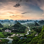 Russell Lucas - Guilin Karst Sunset