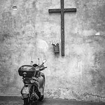 Anne Ramus - Vespa Worshipping in Vatican City (Rome)-1