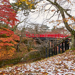 Peter Bond - Autumn Snowfall at Hirosaki Castle