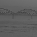 Richard Pilcher - Dawn at Irrawaddy bridge Mandalay
