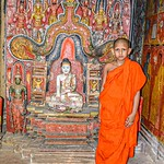 Nihal Basnayake - young monk in ancient temple
