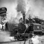Ross Eddington - Station Master and His Train