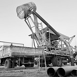 Jenny Adams - Starting the new blower Opal mining in WhiteCliffs