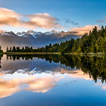 Felix Shparberg - Lake-Matheson.-Reflection